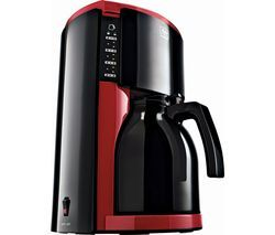 MELITTA Look IV Therm Filter Coffee Machine - Red Best Price, Cheapest Prices