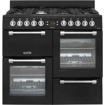 Leisure Cookmaster CK100G232K 100cm Gas Range Cooker - Black - A+/A Rated Best Price, Cheapest Prices