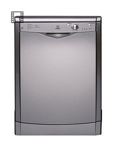 Indesit Ecotime DFG15B1S 12-Place Full Size Dishwasher - Silver Best Price, Cheapest Prices