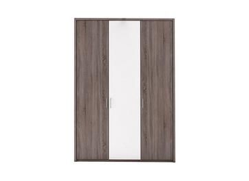 Melbourne 3 Door Hinged Wardrobe - Oak & White Best Price, Cheapest Prices