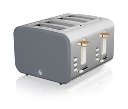 SWAN Nordic ST14620GRYN 4-Slice Toaster - Grey Best Price, Cheapest Prices