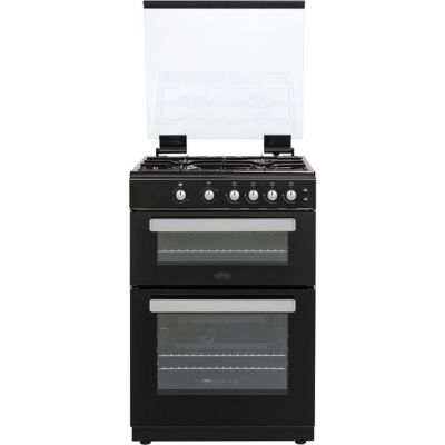 Belling FSG608Dc 60cm Gas Cooker with Full Width Electric Grill - Black - A+/A Rated Best Price, Cheapest Prices