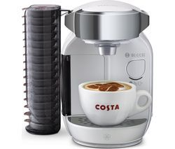 TASSIMO by Bosch Caddy TAS7004GB Coffee Machine - White Best Price, Cheapest Prices