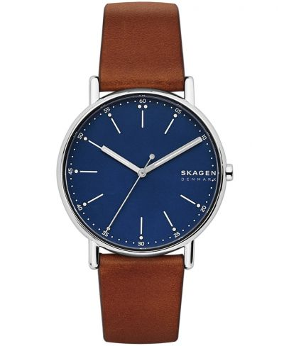 Skagen Men's Signiture brown Leather Strap Watch Best Price, Cheapest Prices