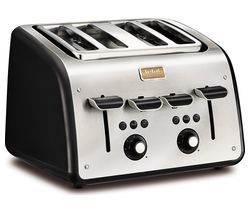 TEFAL Maison TT7708UK 4-Slice Toaster - Stainless Steel & Chalkboard Black Best Price, Cheapest Prices