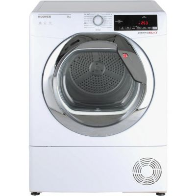 Hoover Dynamic Next Advance DXC9TCG 9Kg Condenser Tumble Dryer - White - B Rated Best Price, Cheapest Prices