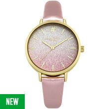 Identity London Ladies' Ombre Pink Glitter Dial Watch Best Price, Cheapest Prices