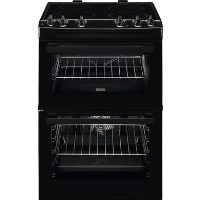 Zanussi ZCI66050BA 60cm Double Oven Electric Cooker With Induction Hob - Black Best Price, Cheapest Prices