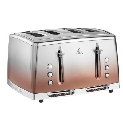 Russell Hobbs Eclipse 25143 4 Slice Toaster - Copper Best Price, Cheapest Prices
