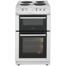 Belling FS50EFDO 50cm Twin Cavity Electric Cooker - White Best Price, Cheapest Prices