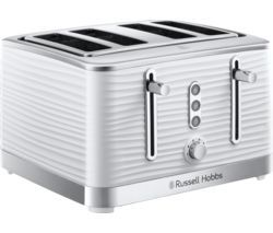 RUSSELL HOBBS Inspire 24380 4-Slice Toaster - White Best Price, Cheapest Prices
