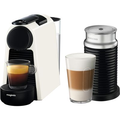 Nespresso by Magimix Essenza Mini & Milk 11372 - White Best Price, Cheapest Prices