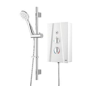 Wickes Hydro Ultra Electric Shower Kit - White/Chrome 10.5kW Best Price, Cheapest Prices