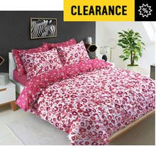 Pieridae Red Animal Print Bedding Set - Kingsize Best Price, Cheapest Prices
