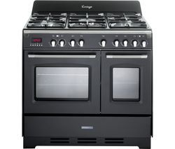 KENWOOD CK425-AN-1 90 cm Dual Fuel Range Cooker - Anthracite & Stainless Steel Best Price, Cheapest Prices