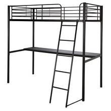 Argos Home Black High Sleeper Bed Frame with Desk Best Price, Cheapest Prices