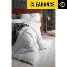 Heart of House 100% Cotton White Bedding Set - Kingsize Best Price, Cheapest Prices
