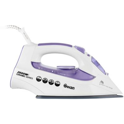 Swan SI10010N 2600 Watt Iron -White / Purple Best Price, Cheapest Prices