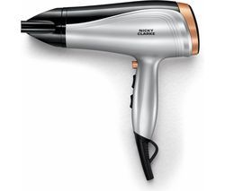 NICKY CLARKE Hair Therapy NHD190 Hair Dryer - Silver & Black Best Price, Cheapest Prices