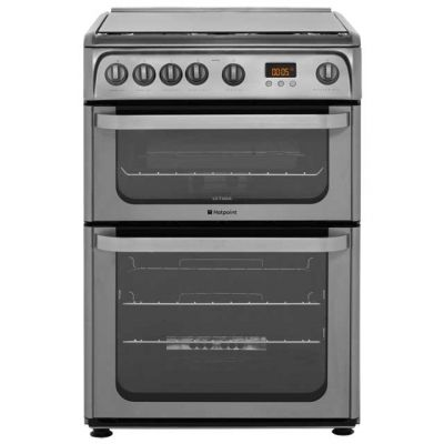 Hotpoint Ultima HUG61X 60cm Gas Cooker with Variable Gas Grill - Stainless Steel - A+/A Rated Best Price, Cheapest Prices