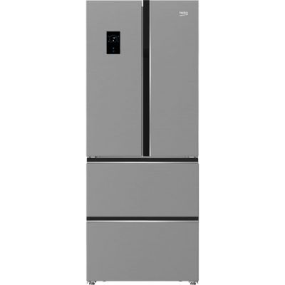Beko GNE490E20PX American Fridge Freezer - Brushed Steel - A+ Rated Best Price, Cheapest Prices