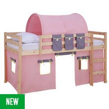 Argos Home Kaycie Pine Mid Sleeper with Rose Tent Best Price, Cheapest Prices