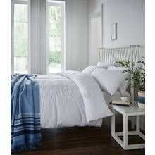 Catherine Lansfield Minimalist White Bedding Set - Double Best Price, Cheapest Prices
