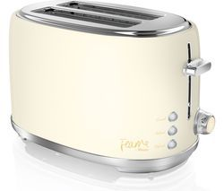 SWAN Fearne ST20010HON 2-Slice Toaster - Pale Honey Best Price, Cheapest Prices