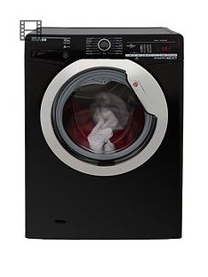 Hoover Dynamic Next Dxoa410C3B 10Kg Load, 1400 Spin Washing Machine With One Touch - Black/Chrome Best Price, Cheapest Prices