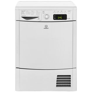 Indesit Eco Time IDCE8450BSH 8Kg Condenser Tumble Dryer - Silver - B Rated Best Price, Cheapest Prices