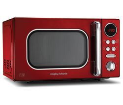 MORPHY RICHARDS Accents 511502 Compact Solo Microwave - Red Best Price, Cheapest Prices