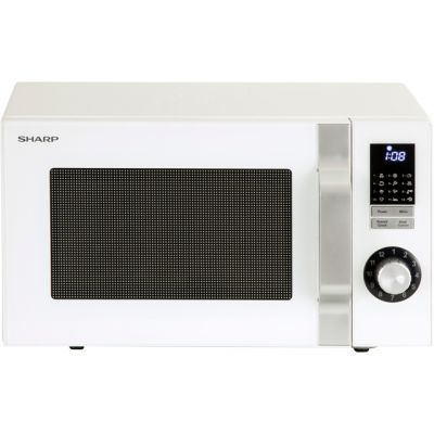 Sharp R344WM 25 Litre Microwave - White Best Price, Cheapest Prices