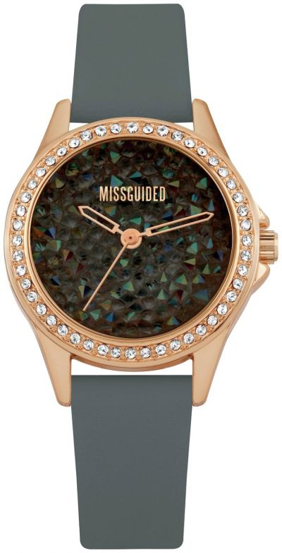 Missguided Grey Faux Leather Strap Watch Best Price, Cheapest Prices