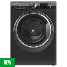 Hotpoint NM11946BCA 9KG 1400 Spin Washing Machine - Black Best Price, Cheapest Prices