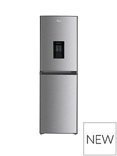 Swan SR15635S 55cmWide Fridge Freezer with Water Dispenser - Silver Best Price, Cheapest Prices