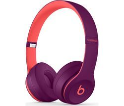 BEATS Solo 3 Wireless Bluetooth Headphones - Magenta Best Price, Cheapest Prices