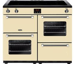 BELLING Kensington 100Ei CRM 100 cm Electric Induction Range Cooker - Cream & Chrome Best Price, Cheapest Prices