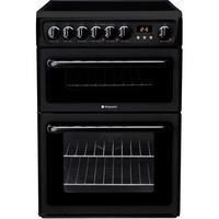 Hotpoint HAE60KS 60cm Double Oven Electric Cooker with Ceramic Hob - Black Best Price, Cheapest Prices