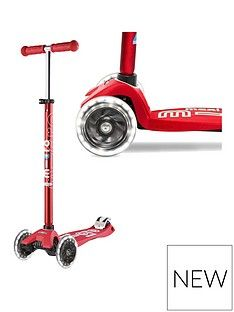 Micro Scooter Maxi Deluxe Led Red Scooter Best Price, Cheapest Prices