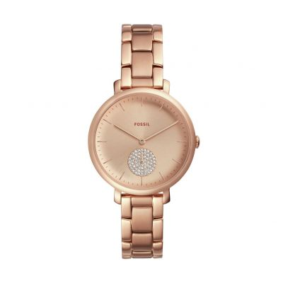 Fossil Ladies Rose Gold Coloured Bracelet Watch Best Price, Cheapest Prices
