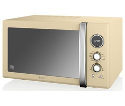 SWAN SM22080CN Retro Microwave with Grill - Cream Best Price, Cheapest Prices