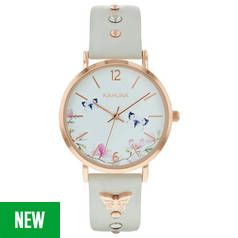 Kahuna White Dial Ladies Grey Strap Watch