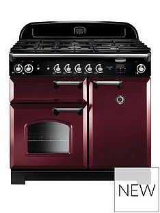 Rangemaster  CLA100DFFCY Classic 100cm Wide Dual Fuel Range Cooker - Cranberry Best Price, Cheapest Prices