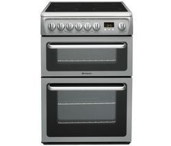 HOTPOINT DSC60S Electric Ceramic Cooker - Silver Best Price, Cheapest Prices