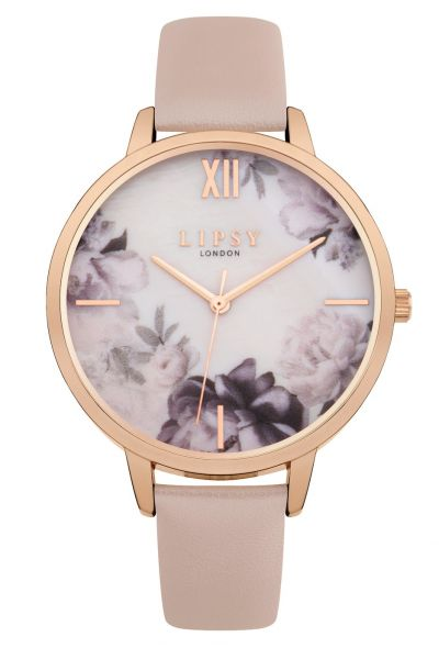 Lipsy Ladies Pink Faux Leather Strap Watch Best Price, Cheapest Prices