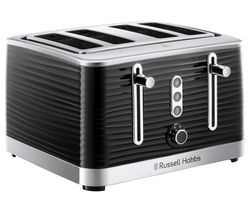 RUSSELL HOBBS Inspire 24381 4-Slice Toaster - Black Best Price, Cheapest Prices