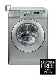 Indesit Innex BWA81483XS 8kg Load, 1400 Spin Washing Machine - Silver Best Price, Cheapest Prices