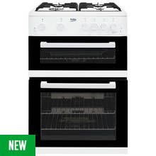 Beko KDG611W Gas Cooker - White Best Price, Cheapest Prices