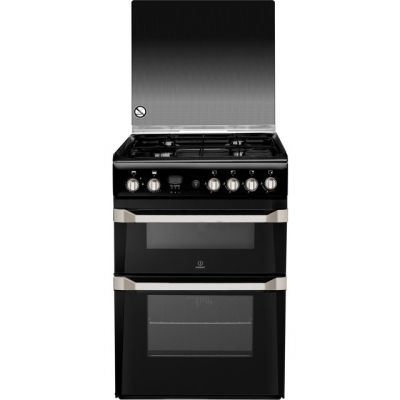Indesit Advance ID60G2K Gas Cooker - Black - A+ Rated Best Price, Cheapest Prices