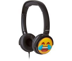 GROOV-E GV-EMJ12 EarMOJI's Laughing Face Kids Headphones - Black Best Price, Cheapest Prices